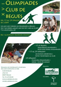 Cartell Olimpiades Begues'09
