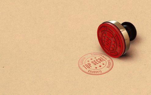 Imatge de segell on hi diu Top Secret