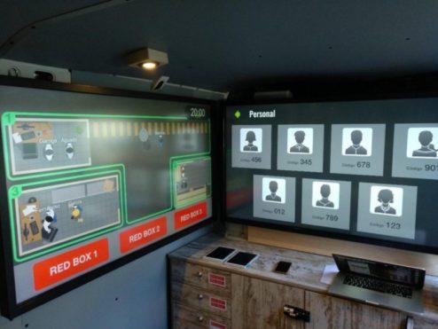 Imagen del interior de la furgoneta.
